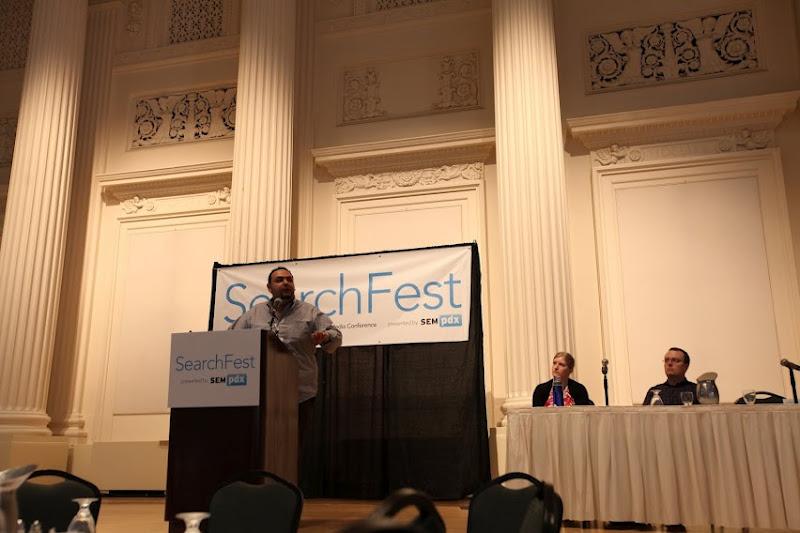 Photo: SearchFest 2012 Social Media Strategy with John Shehata & Ian Lurie - Photo courtesy of Thomas Hayden