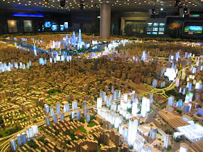 Photo: A model of Shanghai at the Museum of Urban Planning