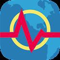 Terremoto+ Mapa, Info, Alertas icon