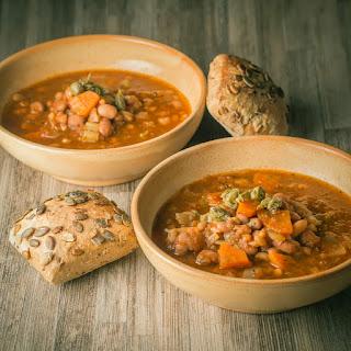 Hearty Crockpot Bean Soup.
