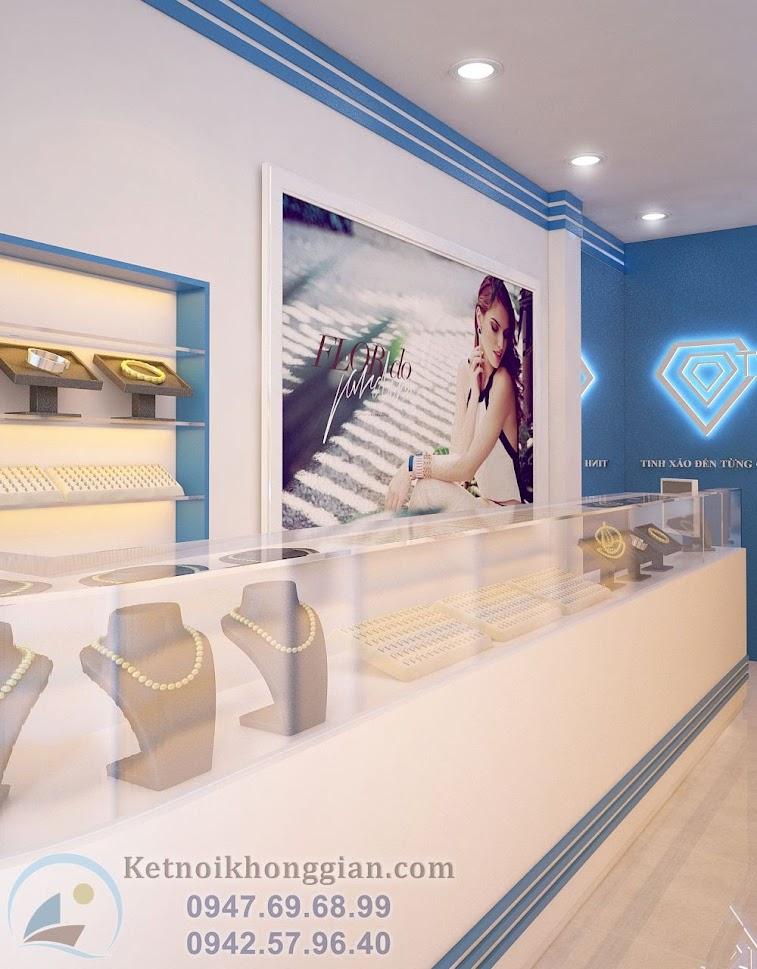 thiết kế shop trang sức đẹp