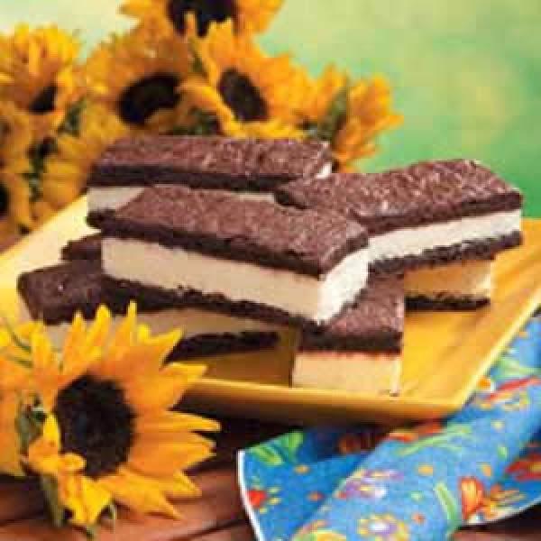 Frozen Mousse Brownie Sandwiches Recipe