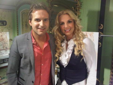 Photo: Here with Steve Hargrave from Daybreak - having a blast in the UK! -Brit