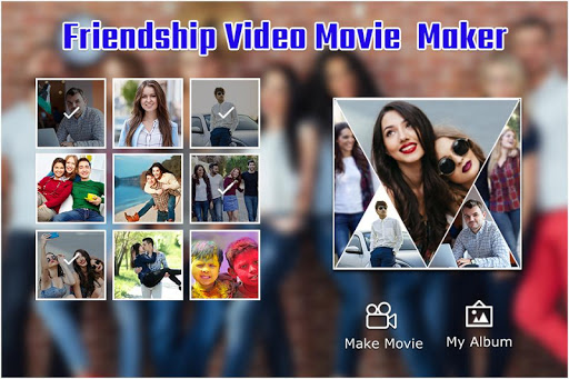 friendship  video maker : bff movie maker screenshot 1