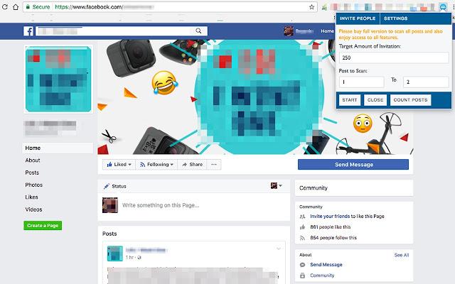 Social Media Page Like Inviter