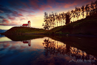 """Photo: """"Inspiration"""" - An image to celebrate today's Earth Day, showing the beauty of Nature in intimate connection with Men.  José Ramos © http://www.joseramos.com  Story: I went to Iceland in search of the epic landscapes, and most certainly found them, but also found out that there are countless hidden gems in this magical country. This shot was made in Hveragerði , while I was scouting for suitable locations to capture the Northern Lights. This beautiful little church was located at the bottom of a hill, with a gorgeous lake right behind it. I imagined this would be perfect to capture the northern lights, but since we were still in the middle of the afternoon, I decided to walk around the church and check its surroundings. There was a very narrow path between the lake and the land, with a small forest on the side. I ventured into the path and when I looked back at the church, it was quite clear I had found an incredible photo spot! I waited until sunset to get the best light and created this reflection image.  Technical data:  Sony a7R + Zeiss 16-35mm f4 Exposure: 30 seconds Aperture: f13 ISO: 100 Manfrotto 055XPRO3 Tripod Wireless remote shutter Terrascape filter bag 4 stop full ND + 4 stop soft ND Grad  #iceland #hveragerdi #reflection #landscapephotography #stunningmoment #photomaniaglobal #photomaniaportugal #photoextract #longexposure"""