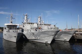 Photo: HMS Spårö (M12) ,HMS Koster (M73), HMS Kullen (M74)
