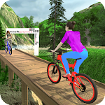 MTB Downhill BMX Bicycle Stunt Rider Icon