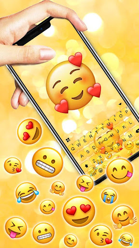 Emojis 3D Gravity Keyboard Theme screenshots 2