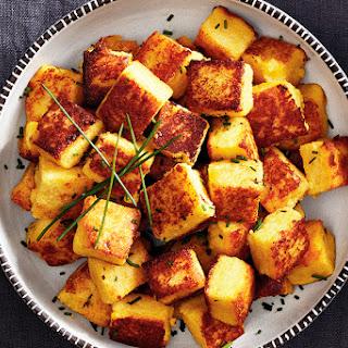 Cheesy Polenta Squares Recipe