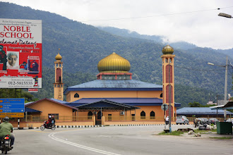 Photo: Year 2 Day 112 -  Mosque With a Wonderful Mountainous Background