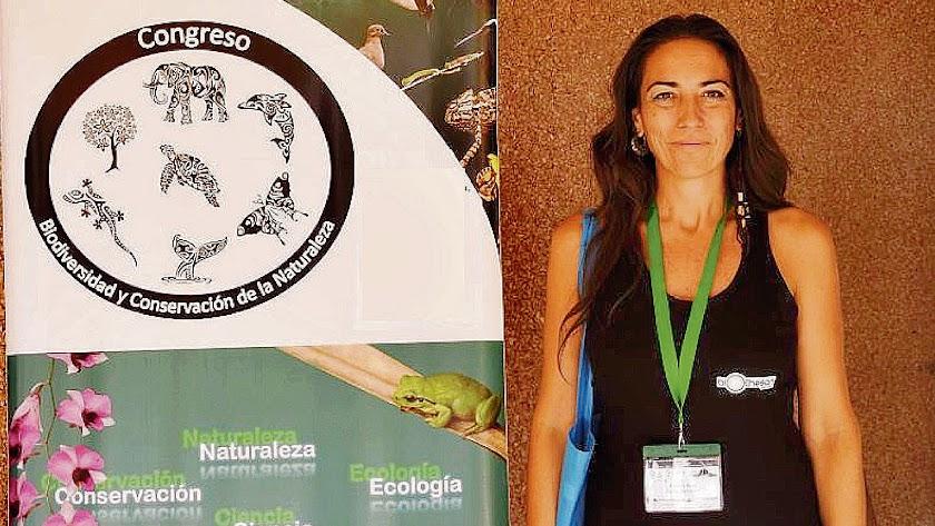 Marga López Rivas durante el Congreso de Biodiversidad y Conservación de la Naturaleza.