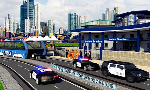 上昇刑務所バス交通 Elevated Police Bus