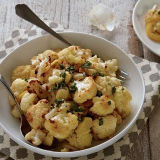 Lemon-Garlic Roasted Cauliflower With Fennel + Gremolata