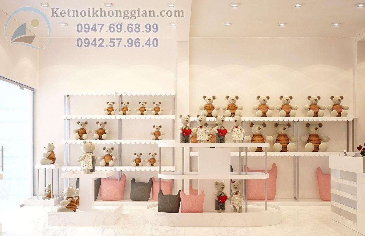 thiết kế cửa hàng gấu bông cao cấp
