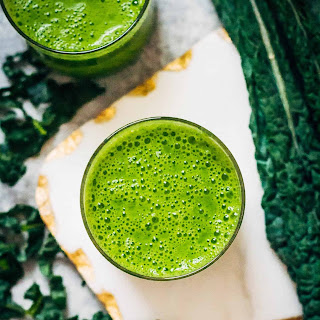 A Kale Pineapple Smoothie.