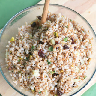 Farro Salad with Pistachios & Dried Cherries
