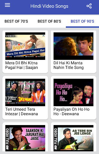 Hindi Video Songs : Best of 70s 80s 90s 1.0.5 screenshots 11