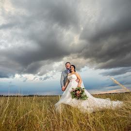 Wedding clouds by Nici Pelser - Wedding Bride & Groom ( bride, wedding photography, wedding photographer, bride and groom, wedding, clouds )