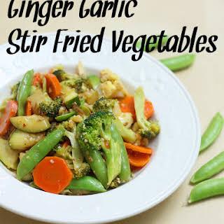 Ginger Garlic Stir Fried Vegetables.