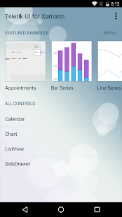 Telerik UI for Xamarin Samples- screenshot thumbnail