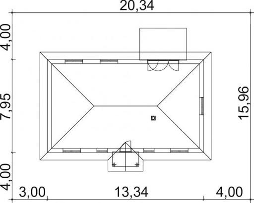 Domek Piastowski szkielet drewniany 002 ES - Sytuacja