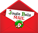 Jingle Bells Mail™ Logo in Center of Footer