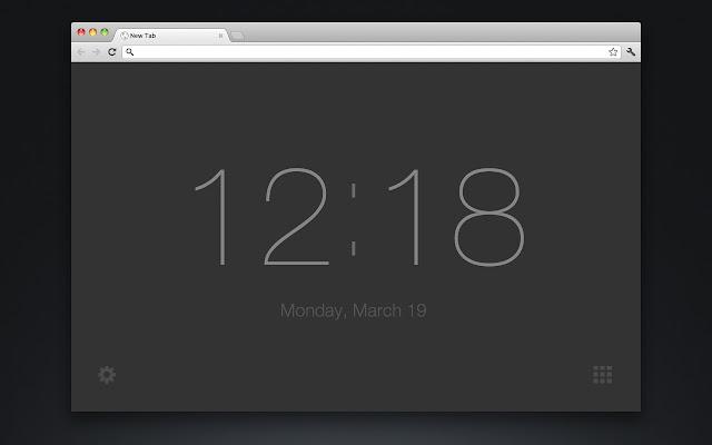 New Tab Clock chrome extension