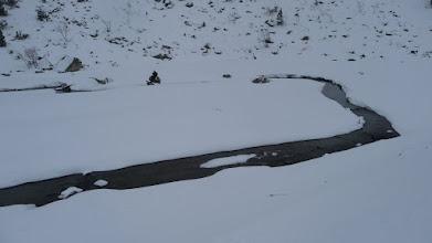 Photo: Méandre dans la neige
