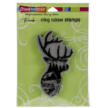 Stampendous Cling Stamp - Buck Scene