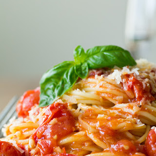 Olive Oil Poached Cherry Tomato Sauce