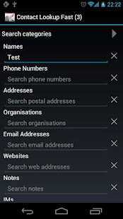 Contact Lookup Fast - náhled