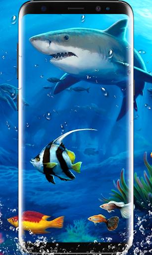 Shark Live Wallpaper 3D Koi HD Background 2018 Screenshot 3