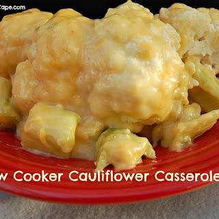 Slow Cooker Cauliflower Casserole