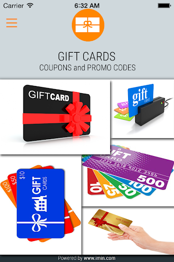 Gift Cards Coupons - I'm In