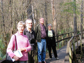 Photo: Elinor, Randy, Fred, Maxine at Audubon's Beidler Forest