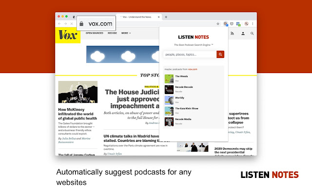 Listen Notes for Chrome - podcast search