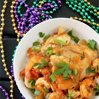 Cajun Shrimp Coubion with Fish