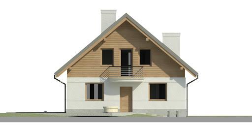 Dom przy Cyprysowej 45 - Elewacja przednia