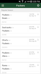 Football Schedule for Packers, Live Scores & Stats - náhled