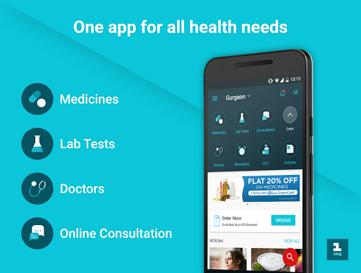 1mg - Medicines, Health Tests, Doctor Consultation Apps (apk) kostenlos herunterladen für Android/PC/Windows screenshot