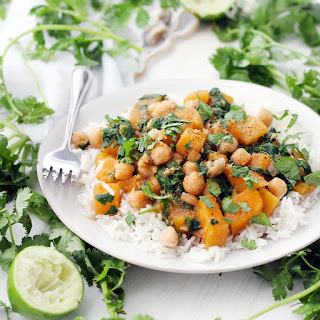 Moroccan Butternut Squash, Chickpea, and Spinach Stew.