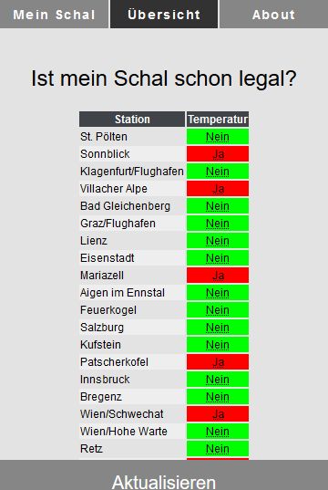 Schal Legal? – Screenshot