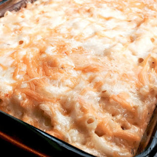 Homemade Five Cheese Macaroni And Cheese.