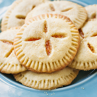 Apricot Sugar Cookie Pies Filled with Apricot Preserves.