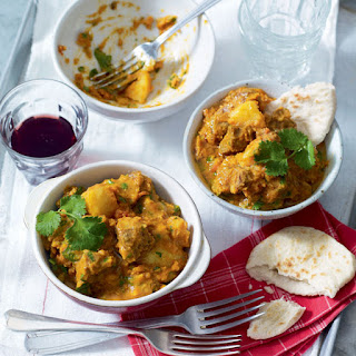 Moroccan Red Lentil And Lamb Stew.