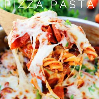 One Pot Pizza Pasta.