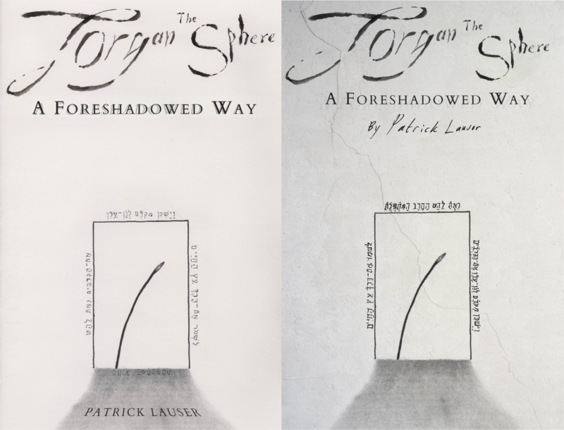 A comparison of a first edition cover and a draft for an improved cover.