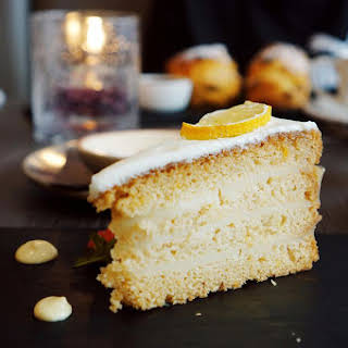 Limoncello Cake Recipe With Mascarpone Frosting.