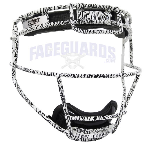 Schutt Custom Zebra White Softball Face Guard